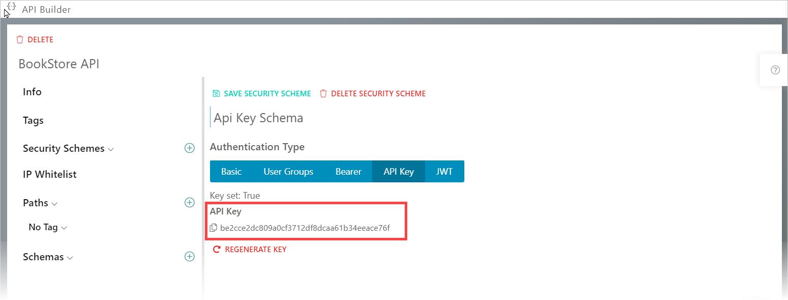 Synatic - API Security Scheme tab