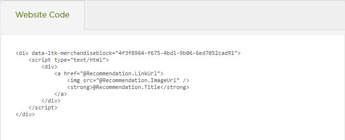 Website Code Example
