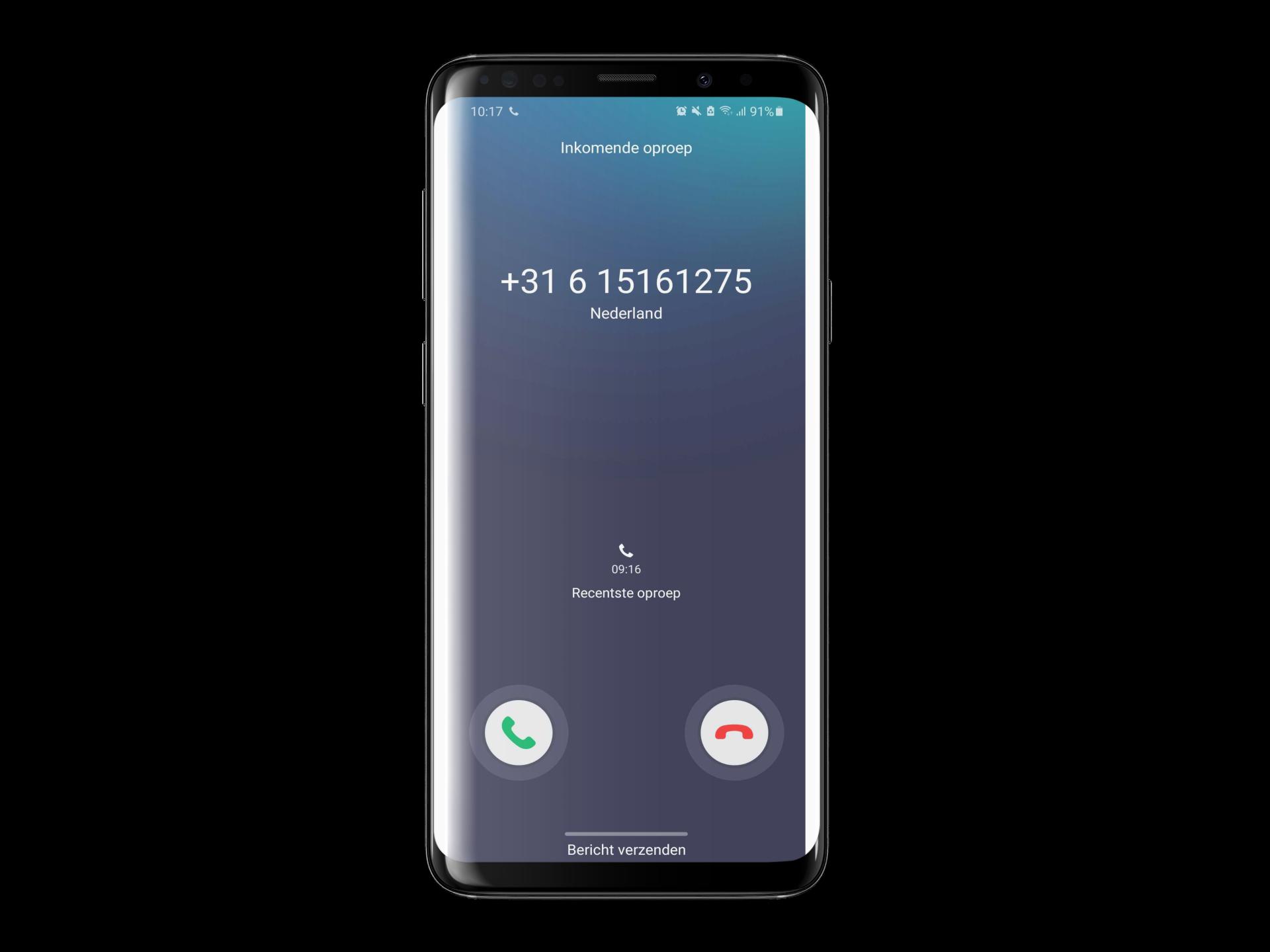 Weergave 1 - telefoonnummer van de beller - Android iPhone Mijn Bereik - Beller ID