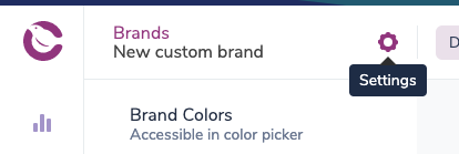 How to open the brand settings