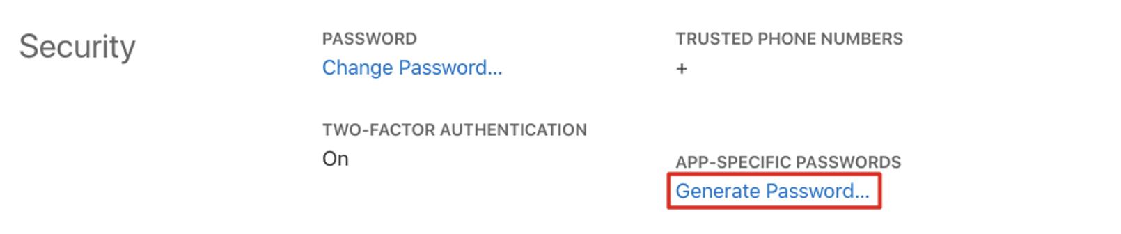 apple app-specific password