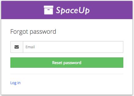 Valet Customer App: Forgot password