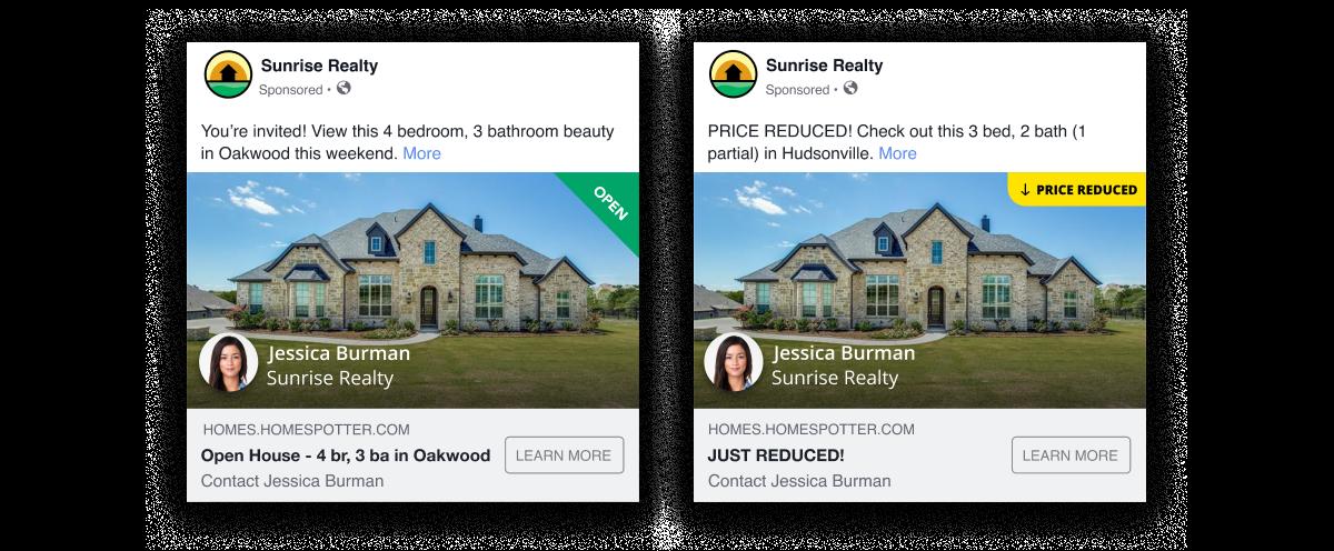 Screenshot showing two ads