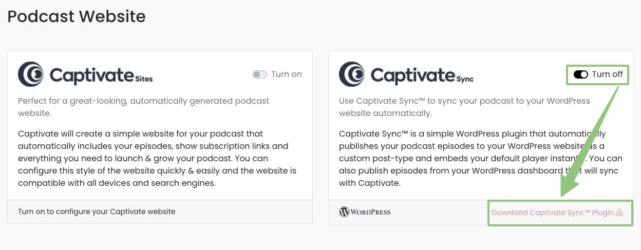 Download Captivate Sync from your Captivate dashboard