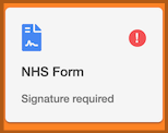 Dentally Patient Portal NHS Form button