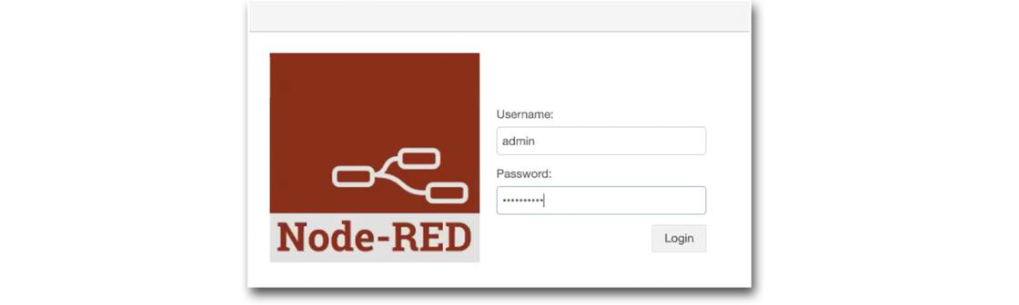 Node-RED Login Modal