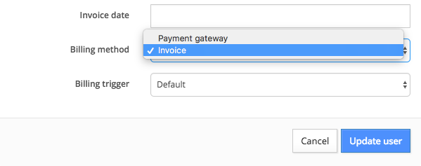 user: edit billing method