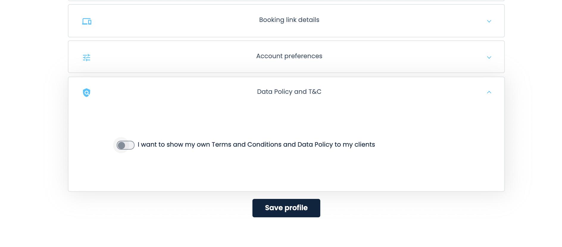 MeetFox - Add data policy