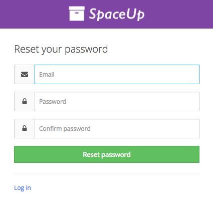 Valet Customer App - password reset