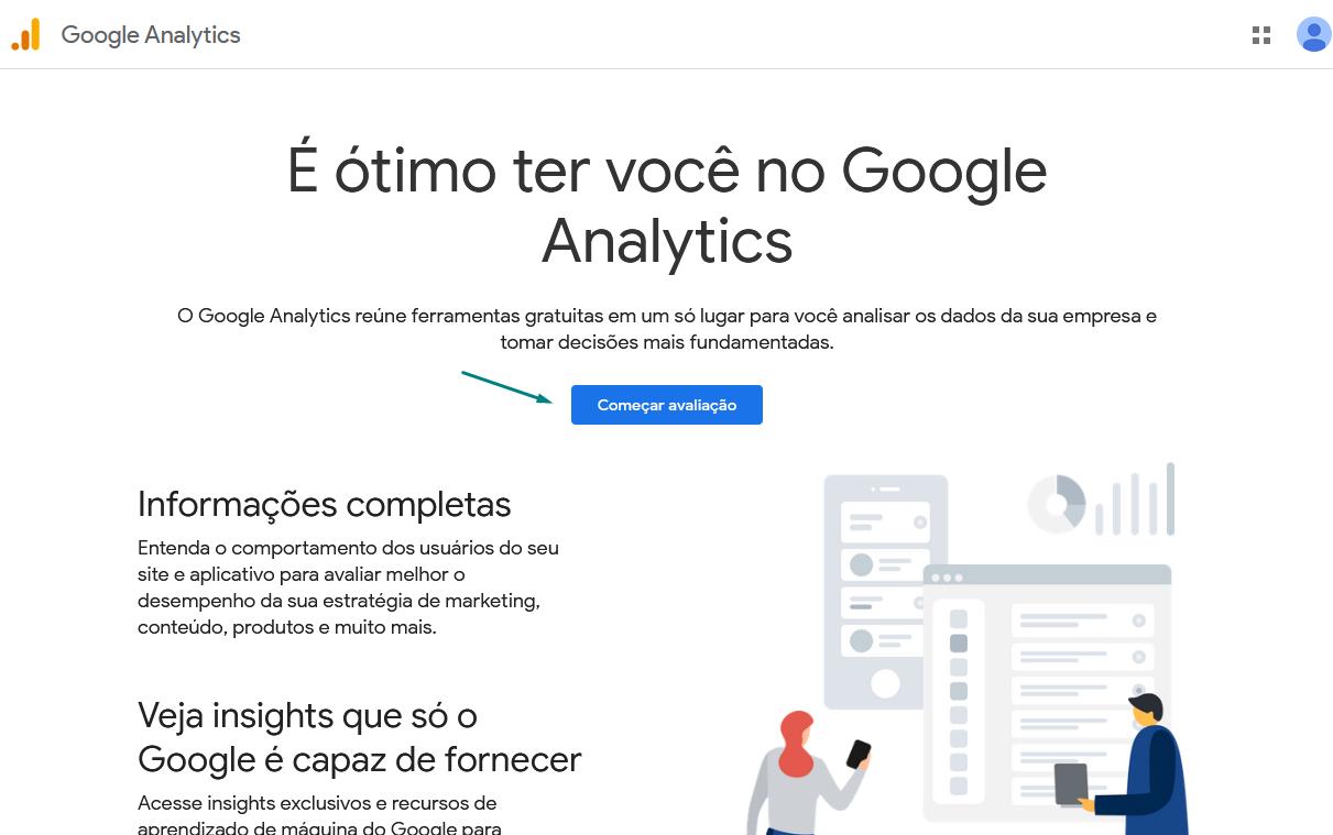 google-analytics-começar-avaliação