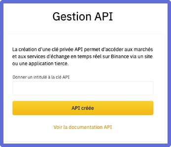 Donner un nom à la clé API
