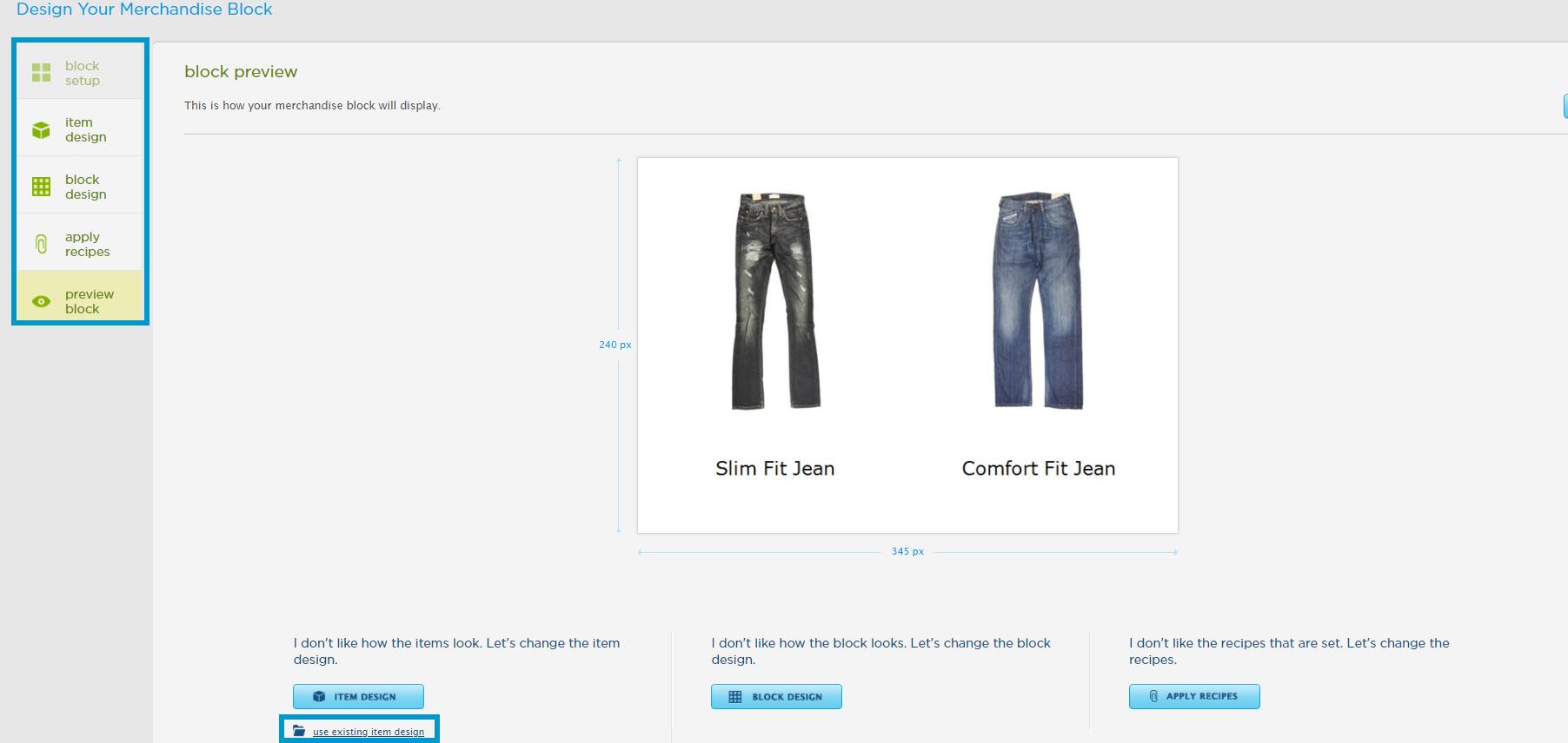 Design a Merchandise Block