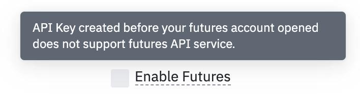 Enable Futures API Binance Waltio