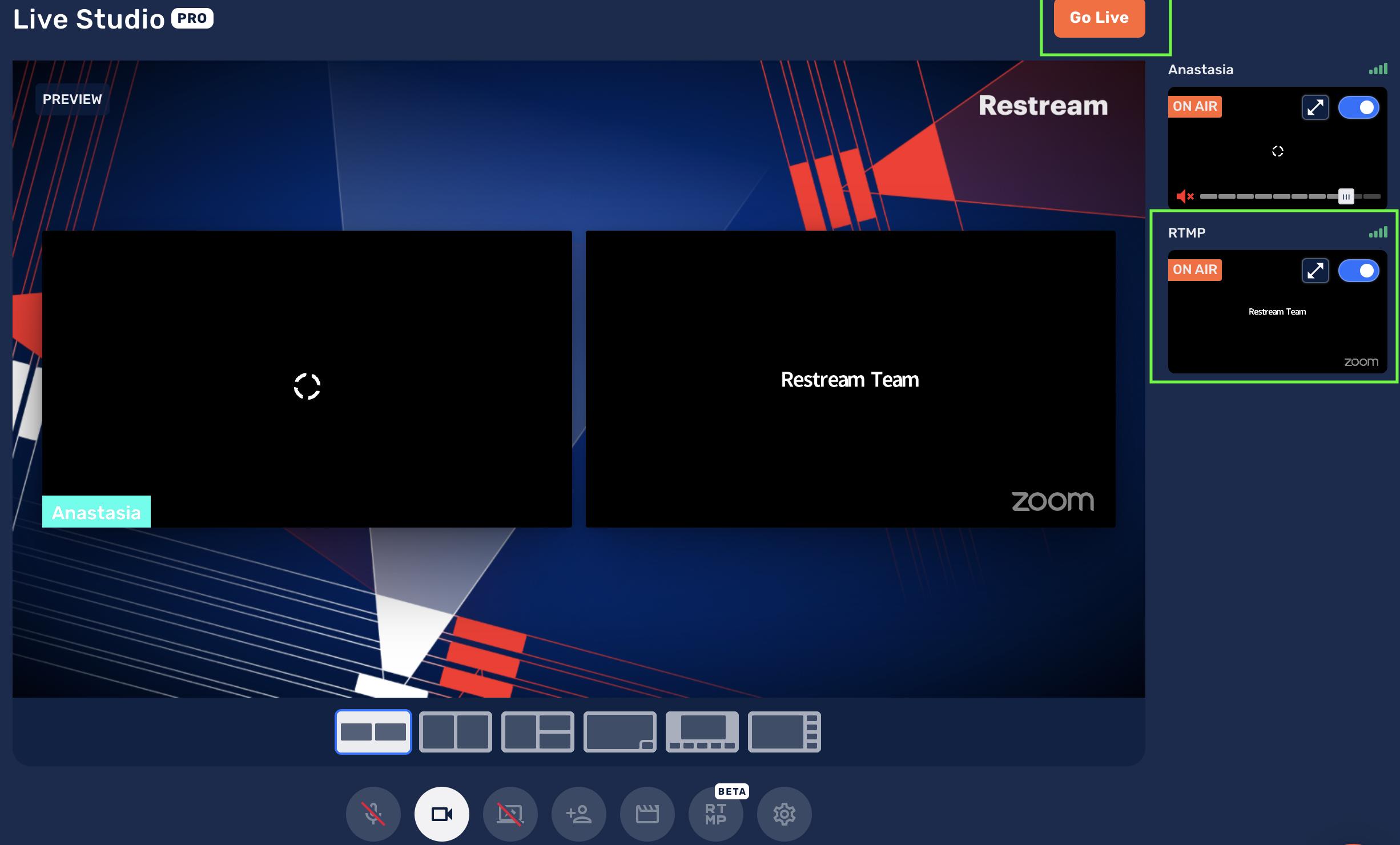 Zoom live stream with Restream Studio