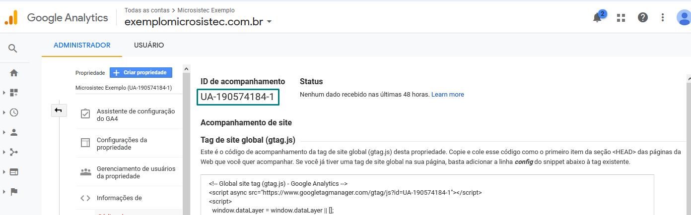 google-analytics-id-acompanhamento