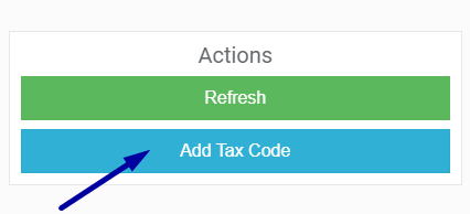 Add a new tax code to my company