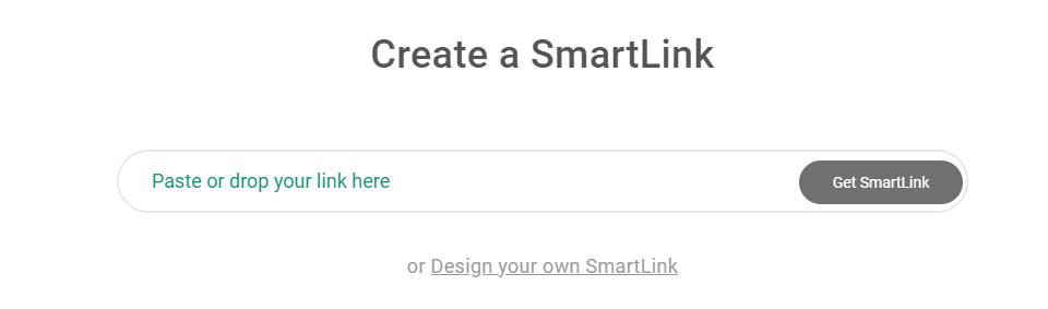 SmartLink Creation step 2 screenshot