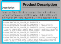 Example: Shogun code showing in instagram storefront