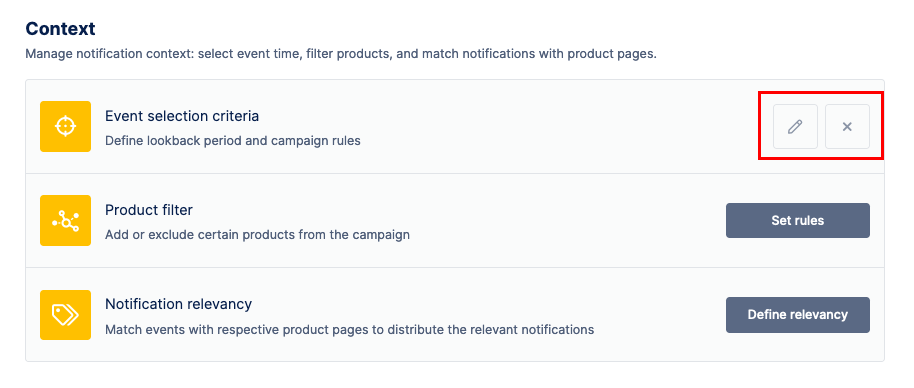 customize settings for Social Proof campaigns