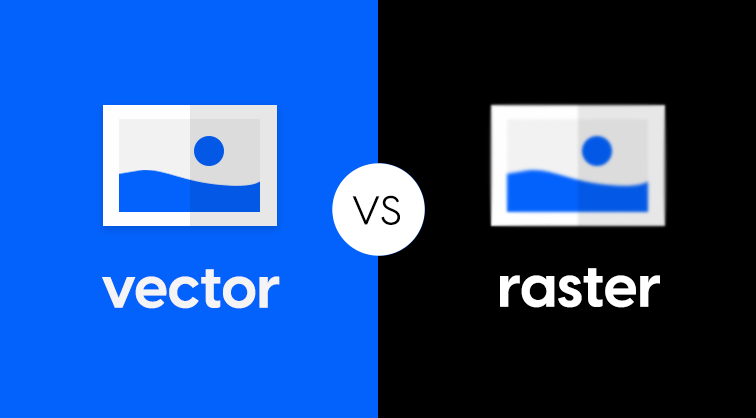 the difference between raster and vector in PDF