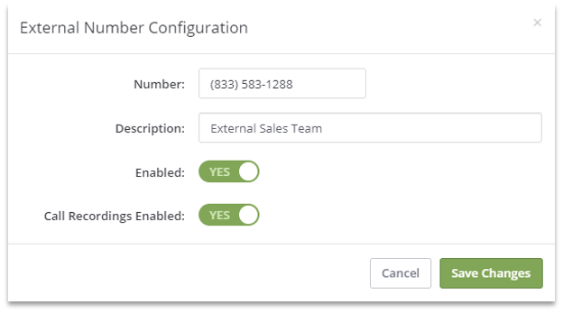Configure a number for warm transfer within RingResponse