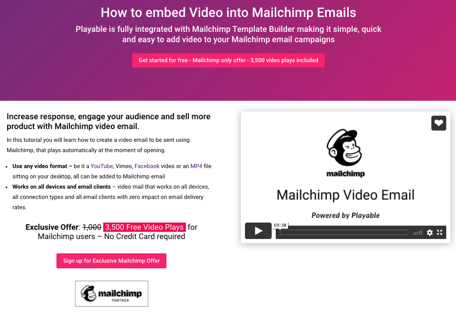 video tutorial on how to add video to your Mailchimp template