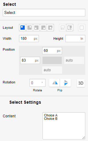 Example Utilizing Actions Based On Select Widgets Irise Help Center