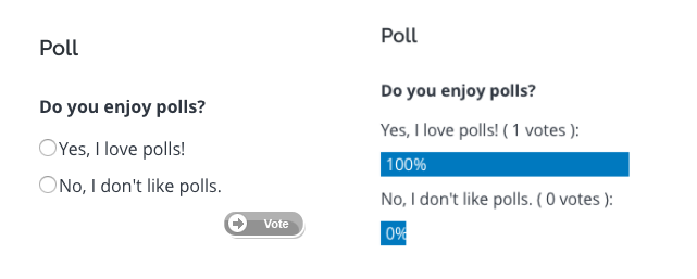 example of poll module