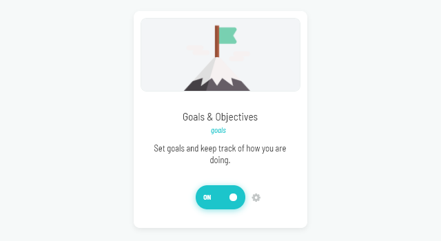 Goals & Objectives strategy