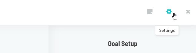 Navingating to Goal Settings