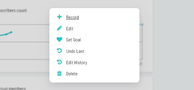 Tracker context menu