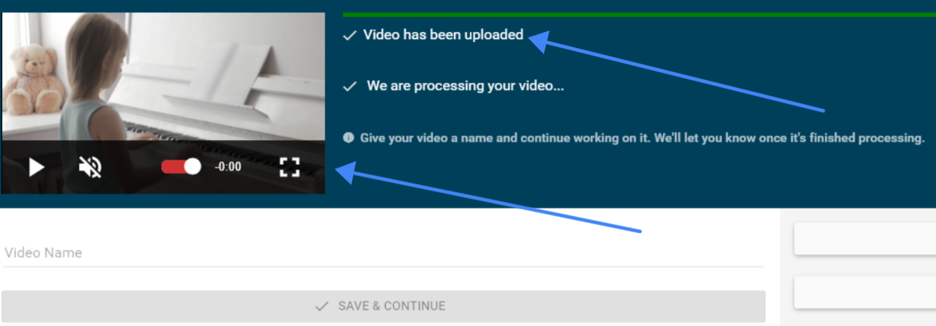 Video Uploads and Validates