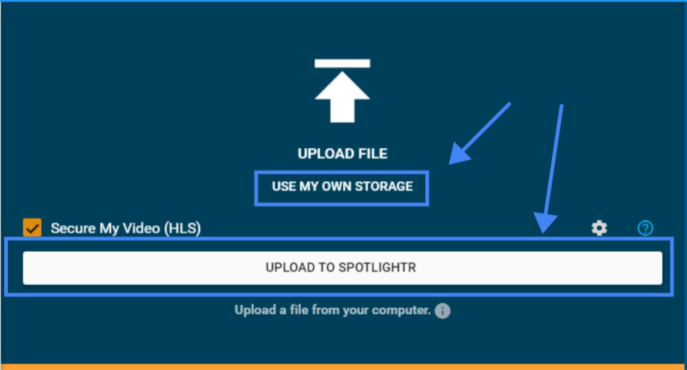 Upload to Spotlightr or Amazon S3 integration