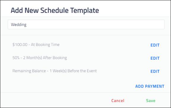 Creating Payment Schedules Shootq Help Center