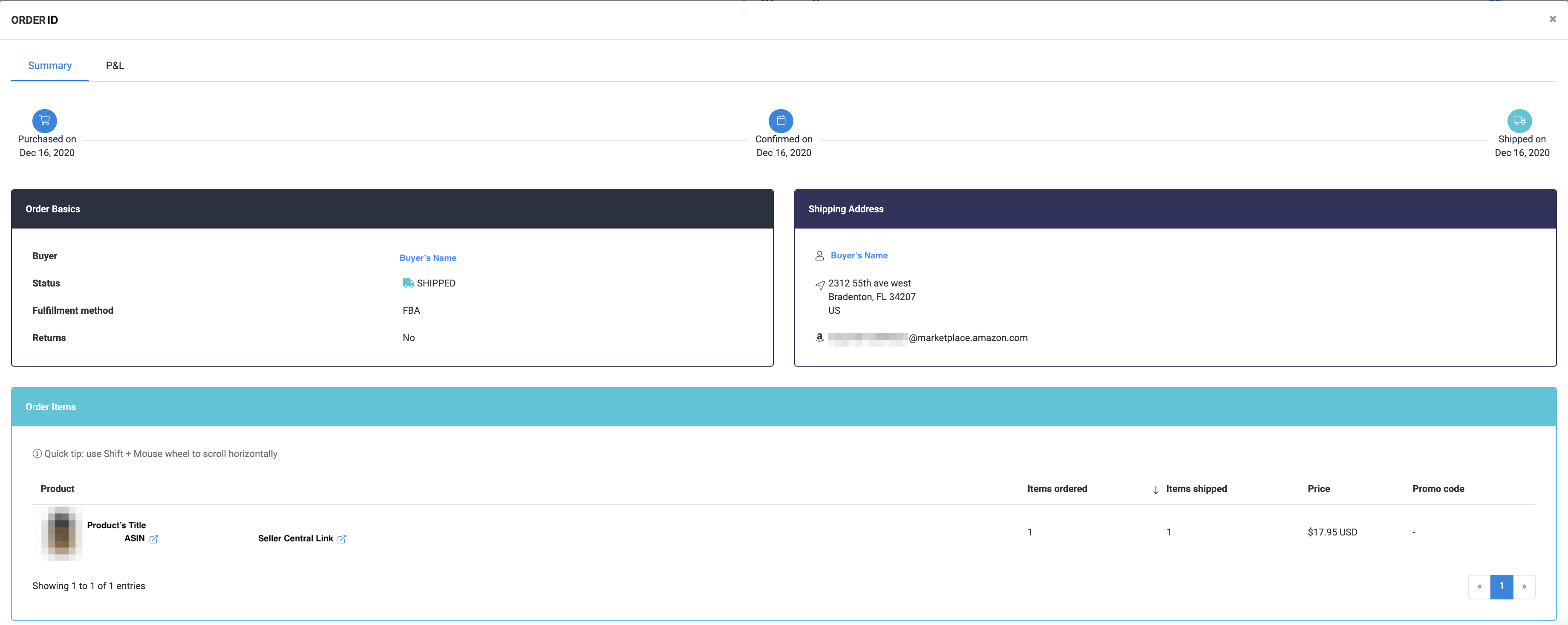 How to use Orders Manager - Order Information