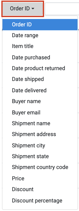 How to use Orders Manager - Filter a Search