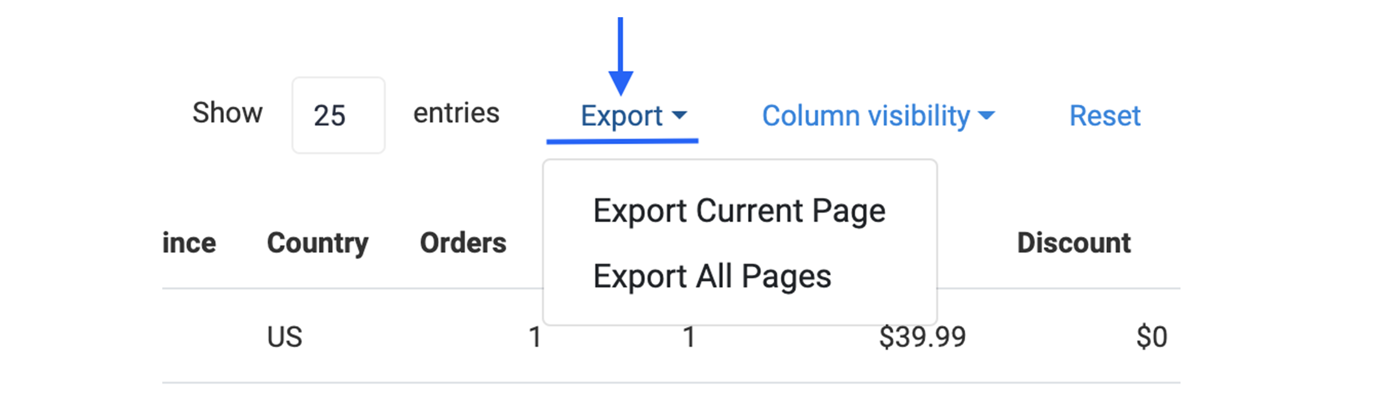 Customers Manager module SOP-Export CSV file