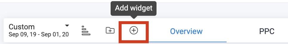 Customizable Dashboard-Click button