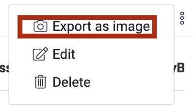 Customizable Dashboard-Export as Image