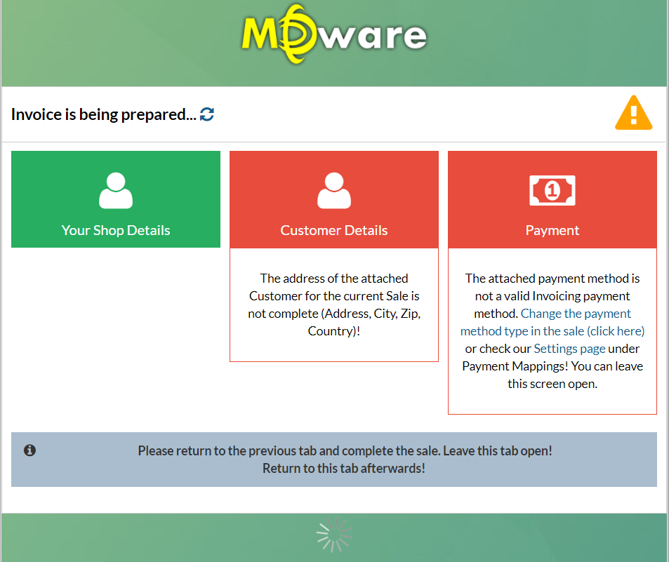 Create An Invoice After Sale MDware Support - Open invoice payment method