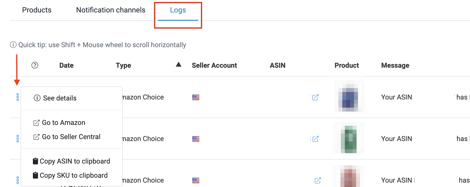 How to set up Alerts and Notifications SOP - Logs Menu