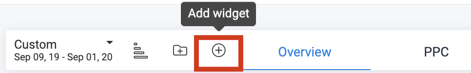 Add the Alerts Log Widget-Add Widget