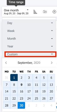 Date Range for the Dashboard-Custom Time Range