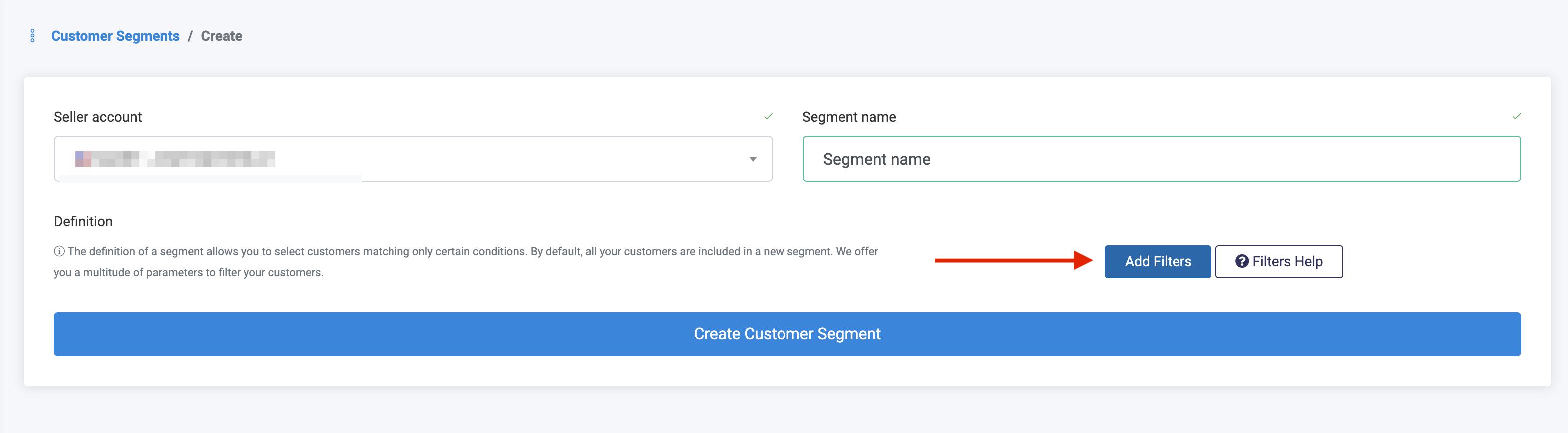 Customer Segments SOP-Create