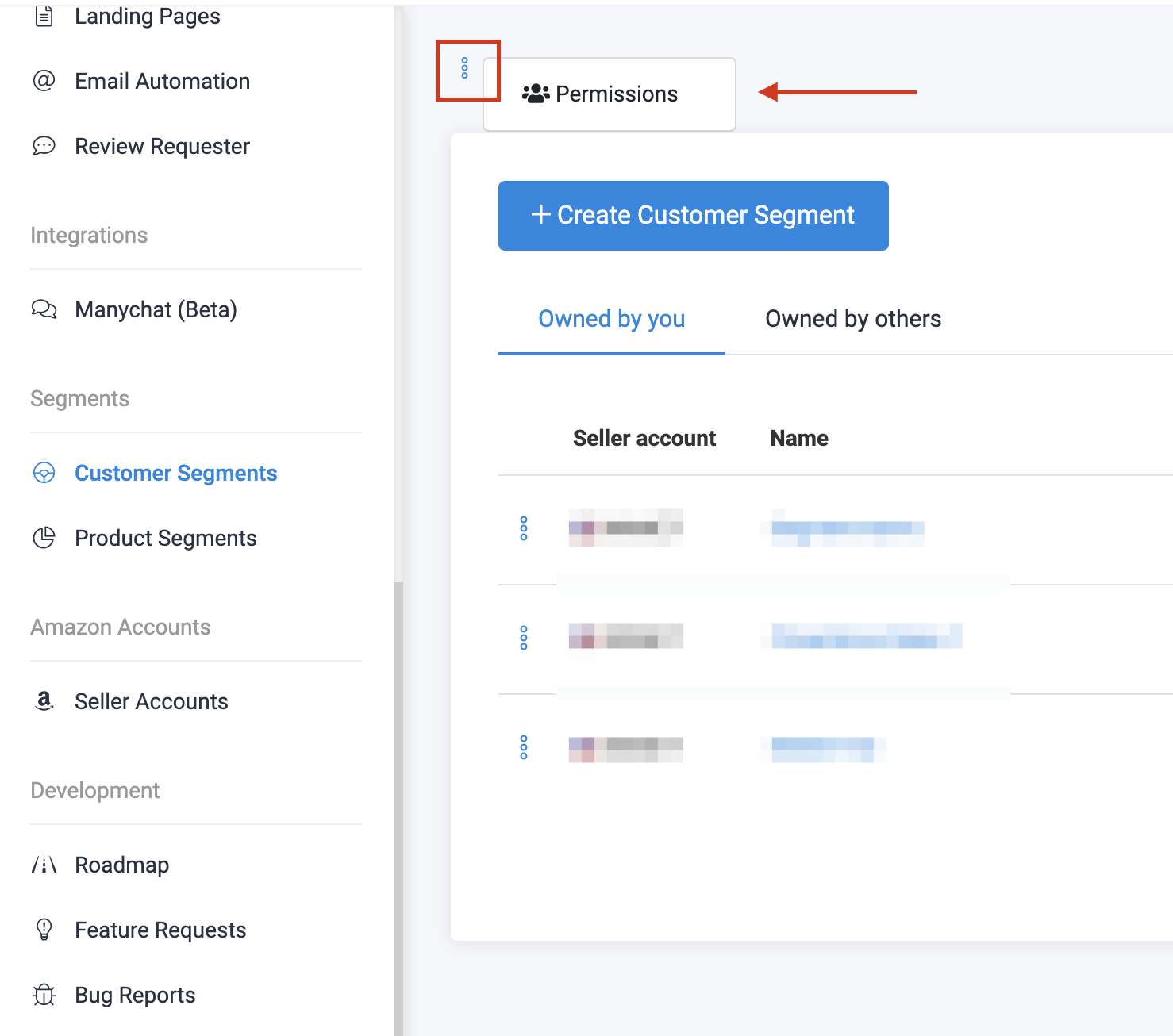 Customer Segments SOP-Permissions