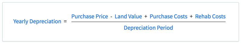 Depreciation deduction formula