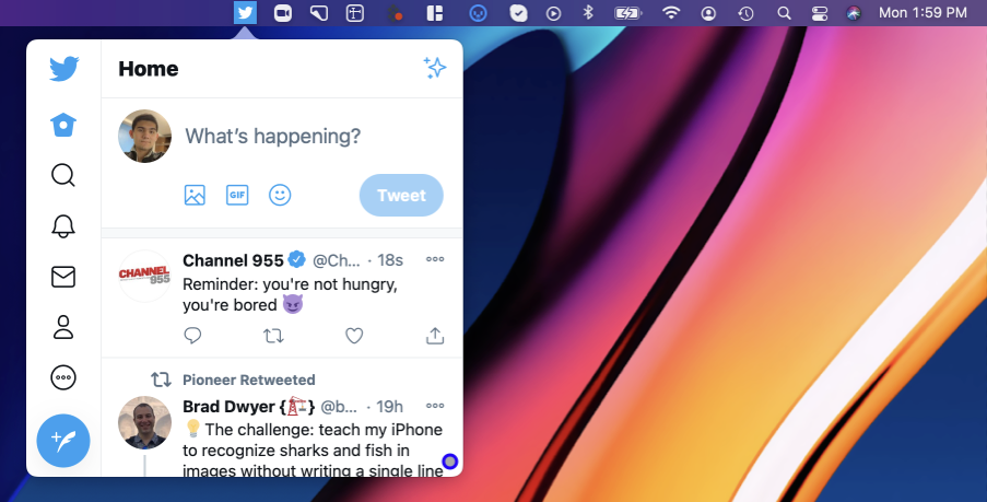 Turn any website into a status bar app in Unite