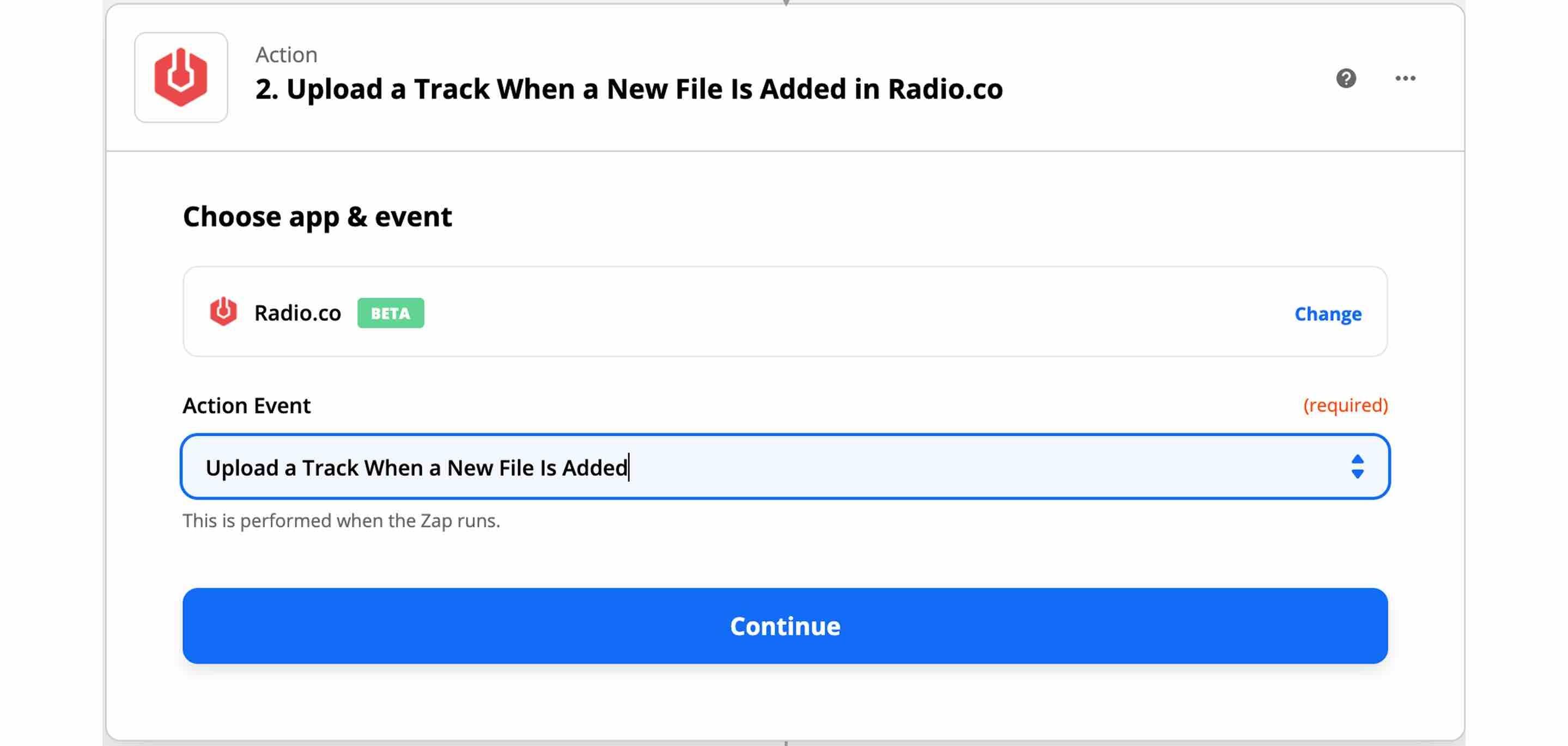 Setup the Radio.co Zapier action to upload news files.