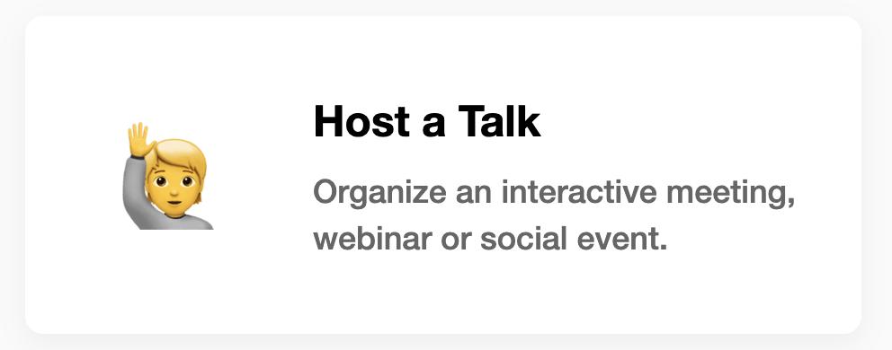 Host a Talk