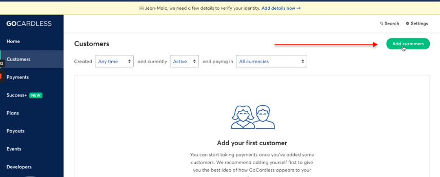 GoCardless mandate unique link